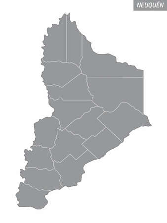 Neuquen province administrative map