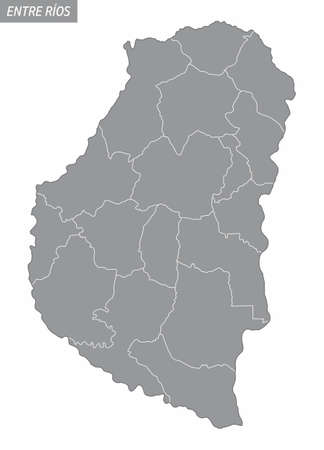 Entre Rios province administrative map
