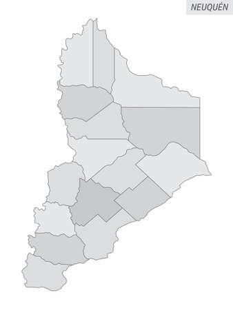 Neuquen province grayscale map