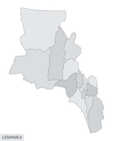 Catamarca province grayscale map