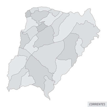 Corrientes province grayscale map