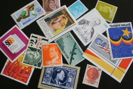 postes: assorted postage stamps