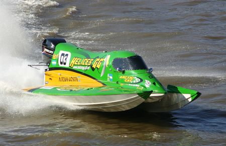 speedboat racing Stock Photo