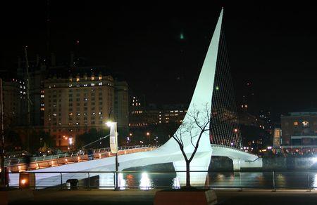 mujer: Puente de la Mujer (bridge by Calatrava), Buenos Aires Stock Photo