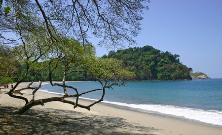 nacional: Beach at the Parque Nacional Manuel Antonio - Costa Rica Stock Photo