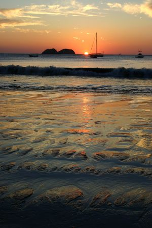 landschaft: Sunset at Playa Hermosa, Guanacaste - Costa Rica