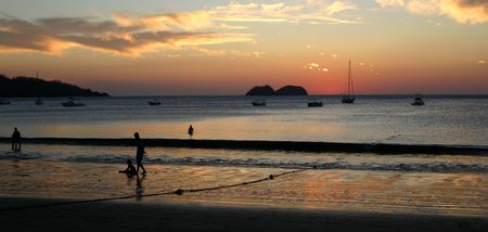 Sunset at Playa Hermosa, Guanacaste - Costa Rica