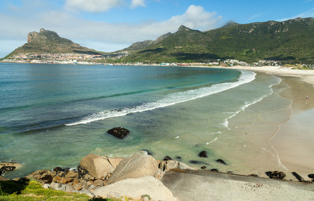 Beautiful beach in Hout bay, Cape Town, South Africa