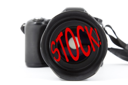 earn money online: Selective focus on a camera lens with text
