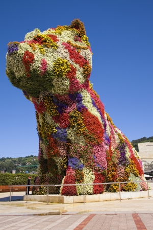 Giant floral dog sculpture Editorial