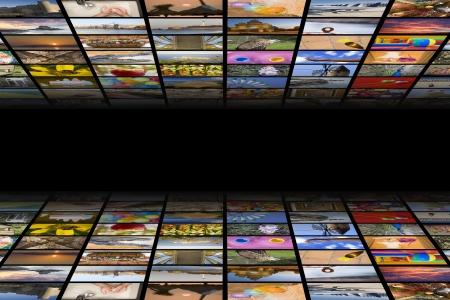 Digital hdtv broadcast concept Standard-Bild