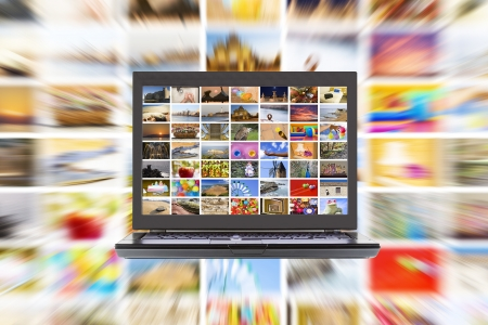 HDTV internet media broadcast concept Standard-Bild