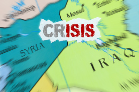 Conceptual representation of the crisis caused by the Islamic State Zdjęcie Seryjne
