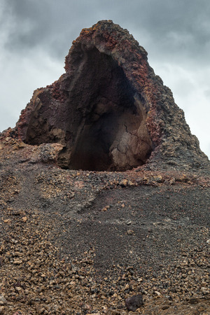 geologic: Geologic formation in a volcanic area Stock Photo