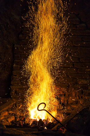 forge: Old blacksmiths forge