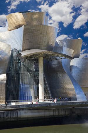 titanium: View of hall of the Guggenheim museum in Bilbao