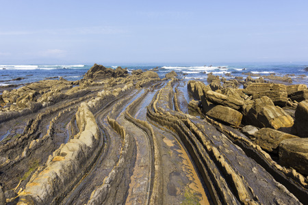 Curved flysch formation in the shoreline