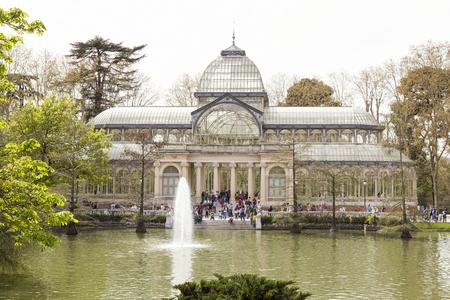 Crystal Palace (Palacio de Cristal) nel parco del Buen Retiro, Madrid Editoriali