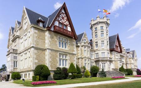 santander: La Magdalena Palace in Santander, Cantabria, Spain; a former Summer Royal Palace, now campus of the International University Menendez Pelayo