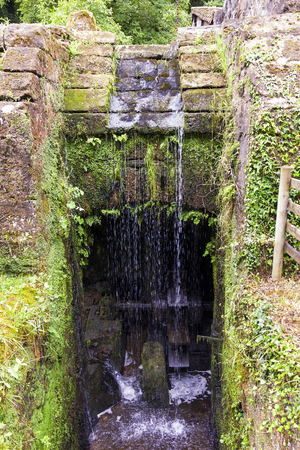 water wheel: Olf water wheel mill Stock Photo