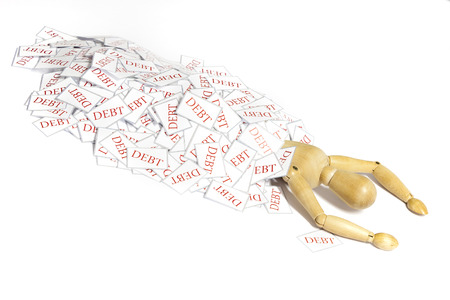 indebtedness: Mannequin killed by the pressure of a pile of bills