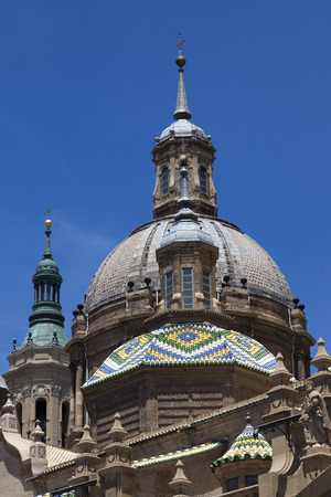 Detail of the Dome of the Basilica of Our Lady of the Pillar