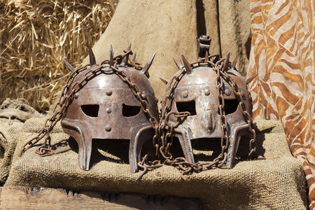 Grunge metal masks