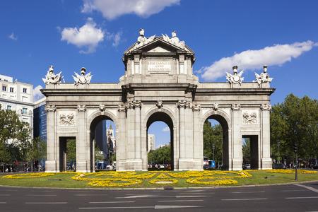 Puerta de Alcala, Madrid, Spain Standard-Bild