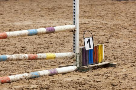 Horse race barrier detail