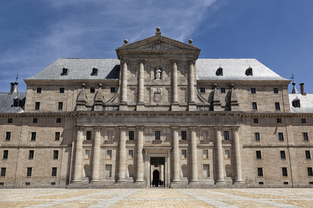 Monastery and royal residence San Lorenzo de El Escorial in Madrid, Spain