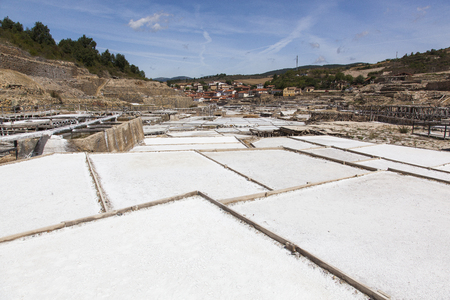 Ancient salt pans in Añana, Basque Country, Spain