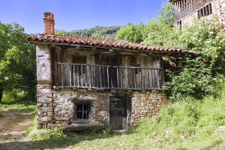 Old abandoned house from a small rural village Banco de Imagens