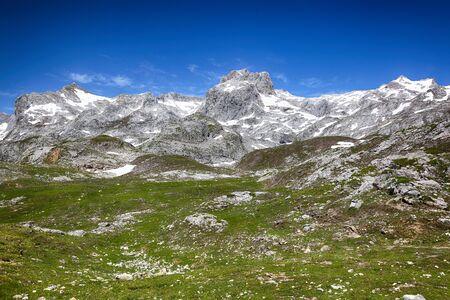Picos de Europa view, Cantabria, Spain Imagens