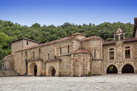 Monastery of Santo Toribio de Liebana, in Cantabria, Spain. It is a Roman Catholic monastery, founded prior to the 6th century. According to tradition, it venerates that largest piece of the Lignum Crucis (True Cross).