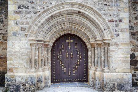 Puerta del Perdón (Door of Forgiveness) of the Monastery of Santo Toribio de Liébana Stock Photo