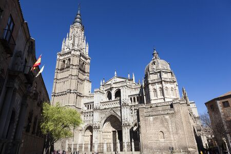 Cathedral of Toledo, built on the 13th-century. It is the magnum opus of the Gothic style in Spain