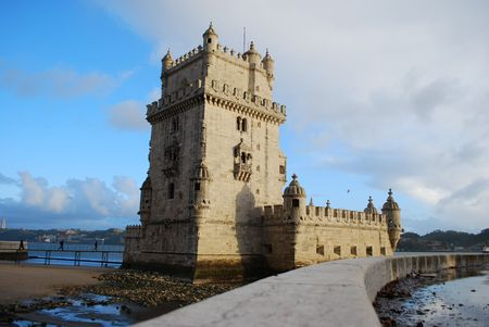 wide angle: Belem Tower Wide Angle, Lisbon Editorial