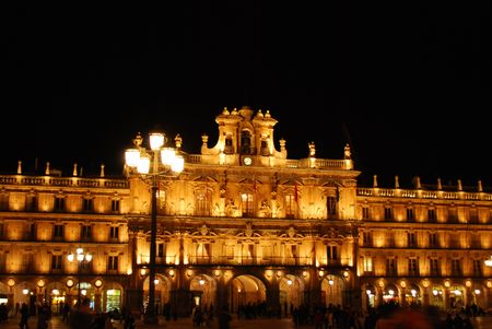 Plaza Mayor in Salamanca, Spain (Night)