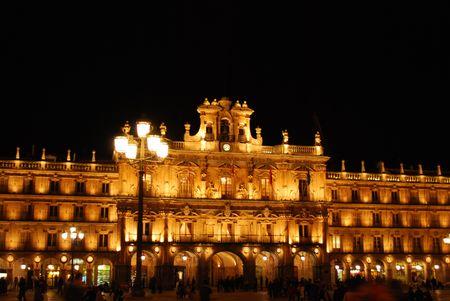 salamanca: Plaza Mayor in Salamanca, Spain (Night)