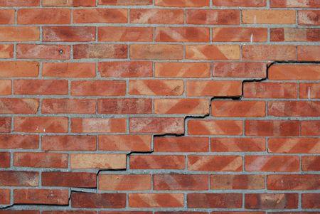 dismantled: Dismantled Brick Wall BackgroundPattern Stock Photo