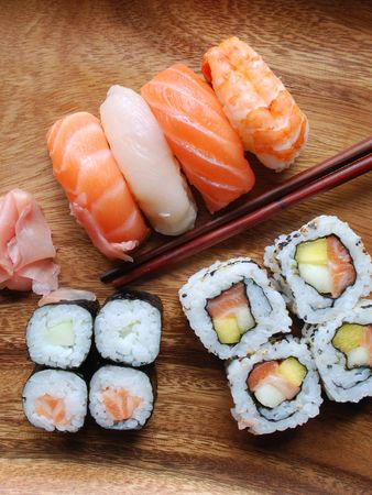 delicious sushi meal photo