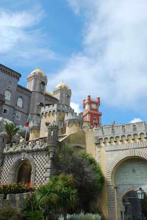 famous palace and one of the seven wonders in Portugal photo