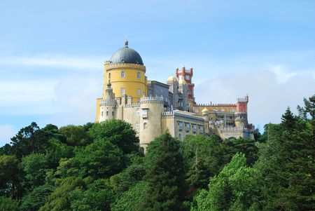 royal house: famous palace and one of the seven wonders in Portugal