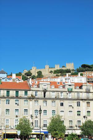 jorge: beautiful landscape view of Lisbon (Castle of Sao Jorge)