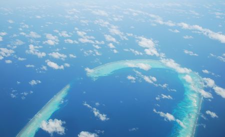 beautiful view of Maldives Island and gorgeous clouscape scene Stock Photo - 5415635