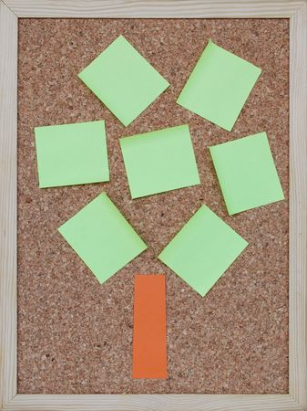 concept of a tree with post it notes photo
