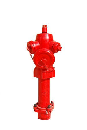 photo of a bright red fire hydrant over white Stock Photo - 5872258