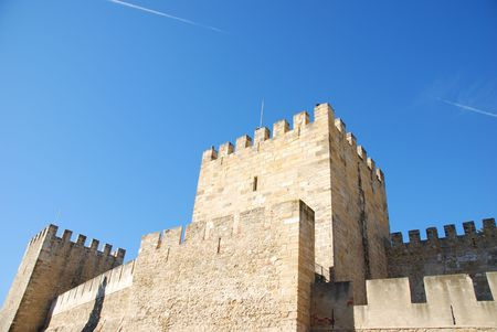 famous castle in Lisbon built on the II Century BC photo