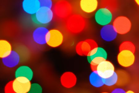 glowing Christmas lights (blur abstract color background) photo