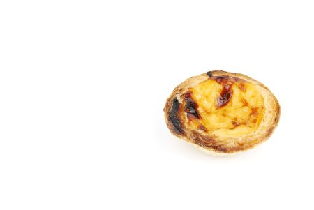 delicious pastel de nata, typical pasty from Lisbon - Portugal (isolated on white background) photo